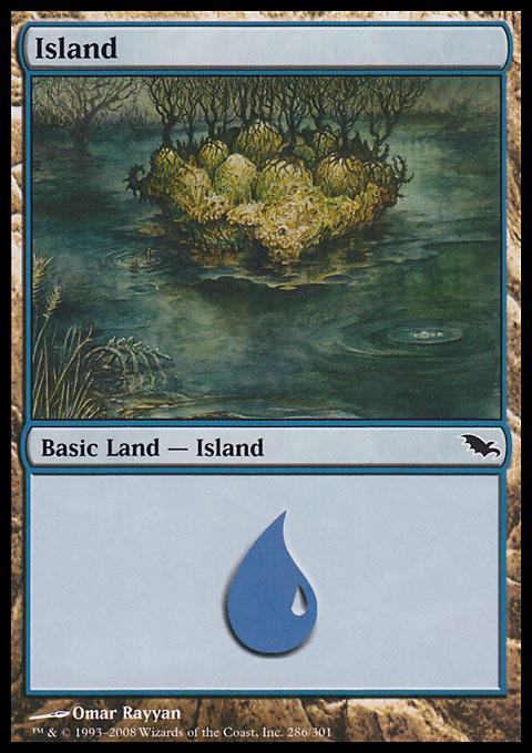 Island (286)  card from Shadowmoor