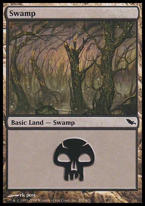 Swamp (292)  card from Shadowmoor