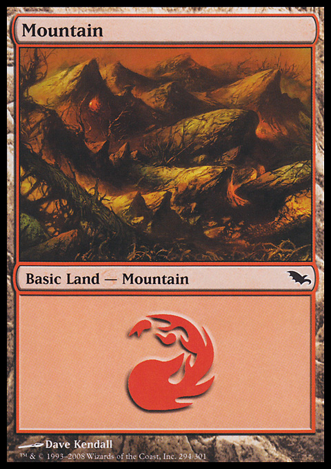 Mountain (294)  card from Shadowmoor