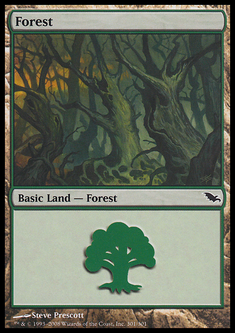 Forest (301) card from Shadowmoor