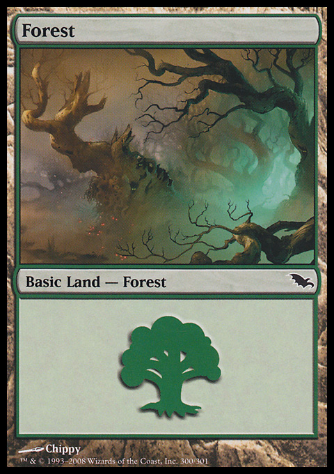 Forest (300) card from Shadowmoor