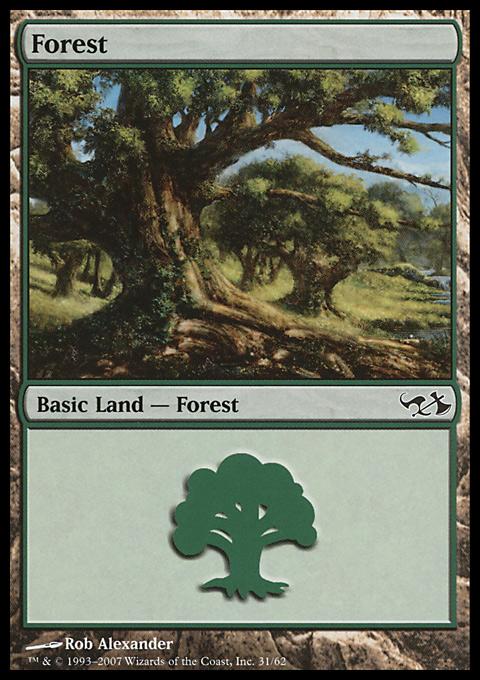 Forest (31)  card from Duel Decks: Elves vs. Goblins