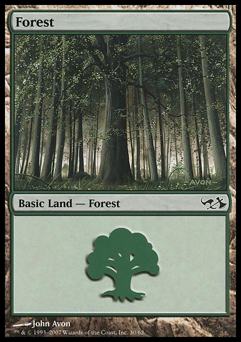 Forest (30)  card from Duel Decks: Elves vs. Goblins