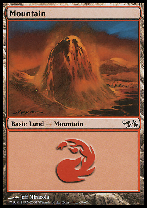 Mountain (60)  card from Duel Decks: Elves vs. Goblins