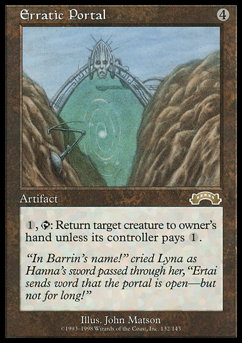 Erratic Portal original card image