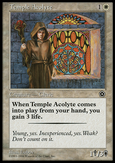 Temple Acolyte card from Portal Second Age