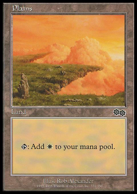 Plains (331)  card from Urza's Saga