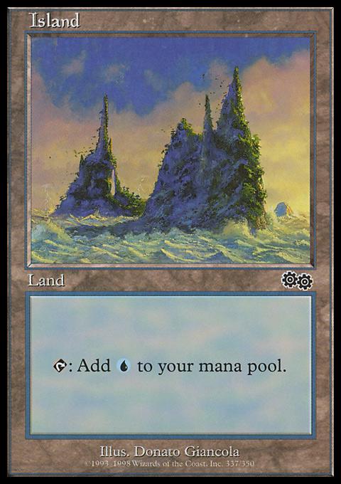 Island (337)  card from Urza's Saga