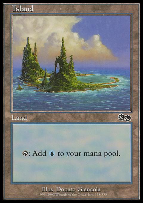 Island (338)  card from Urza's Saga