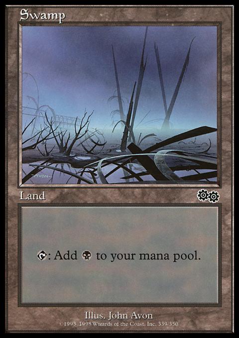 Swamp (339)  card from Urza's Saga