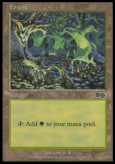 Forest (347) card from Urza's Saga