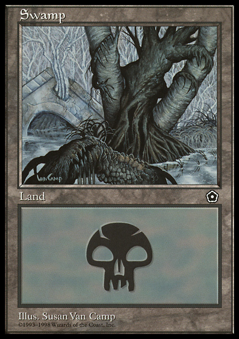 Swamp (163) card from Portal Second Age