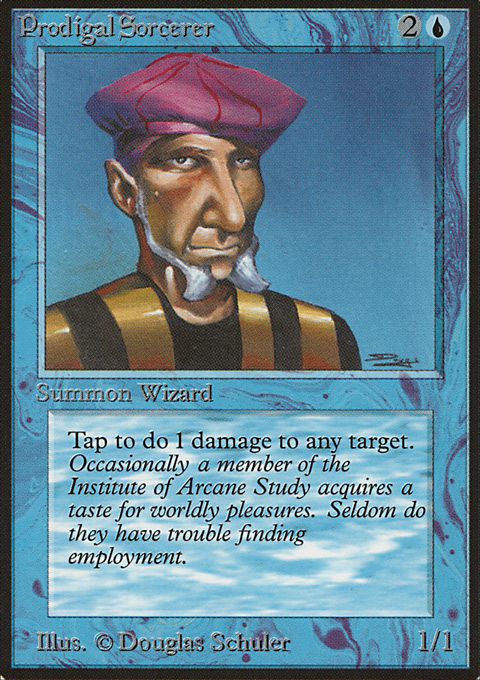 Prodigal Sorcerer card from Limited Edition Beta
