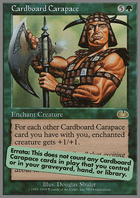Cardboard Carapace