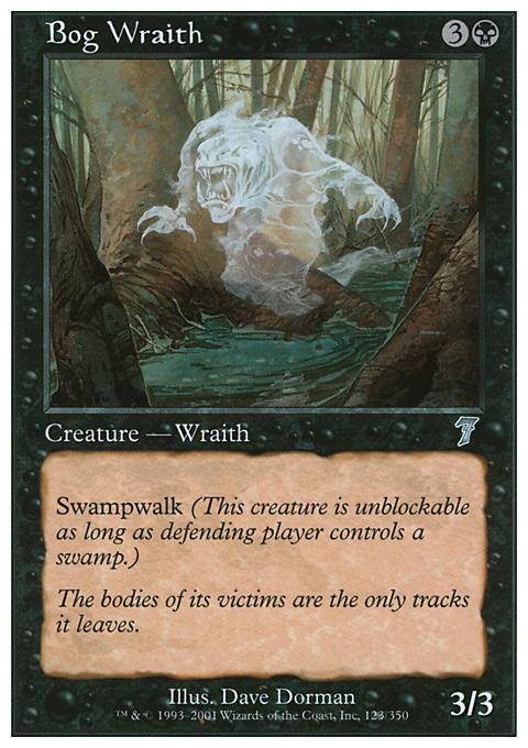 Bog Wraith card from Seventh Edition