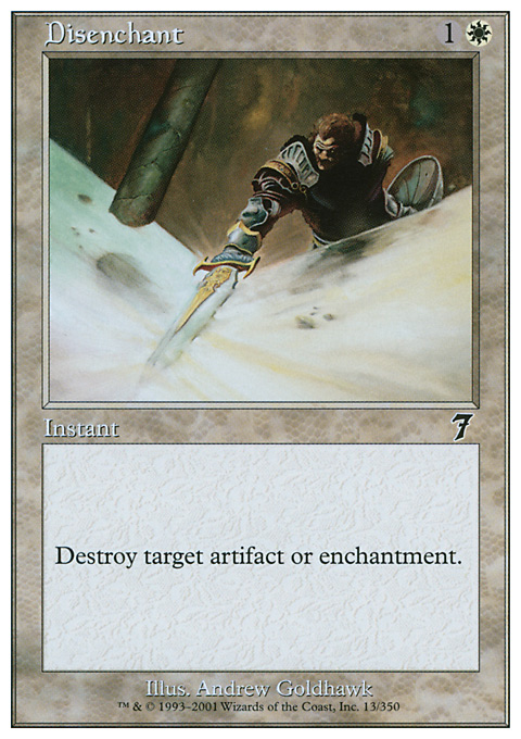 Disenchant card from Seventh Edition