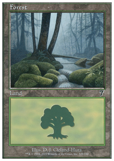 Forest (328) card from Seventh Edition