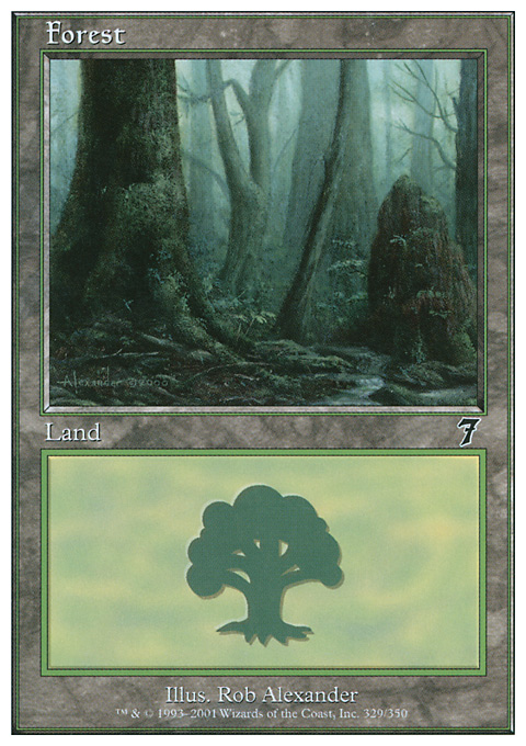 Forest (329) card from Seventh Edition