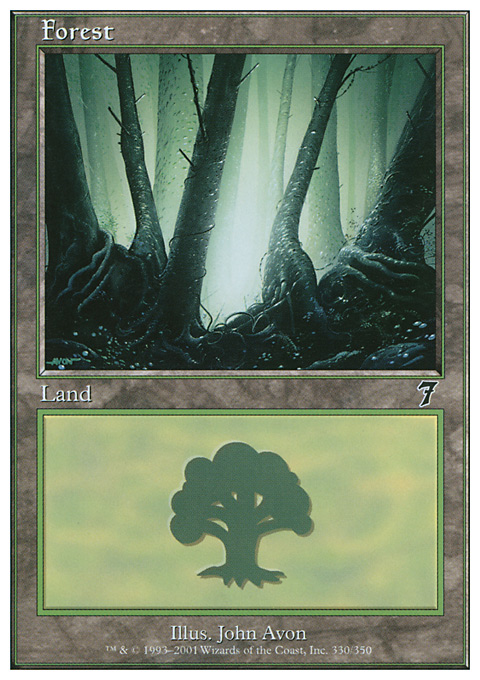 Forest (330) card from Seventh Edition