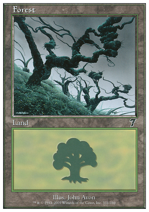 Forest (331) card from Seventh Edition