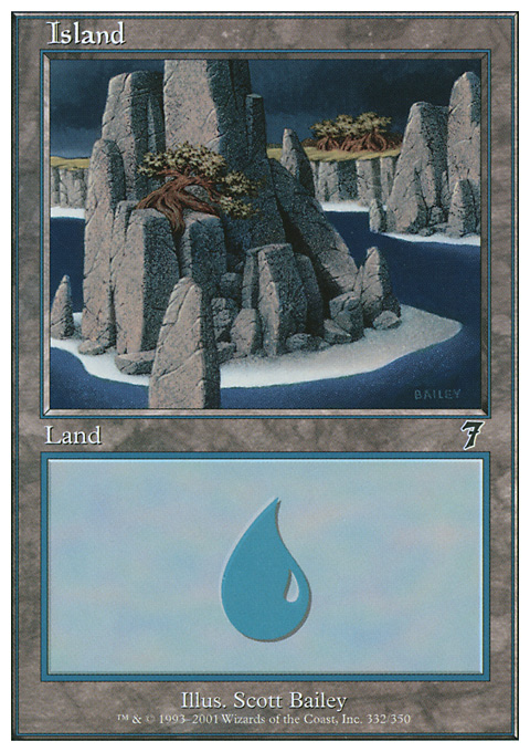 Island (332)  card from Seventh Edition