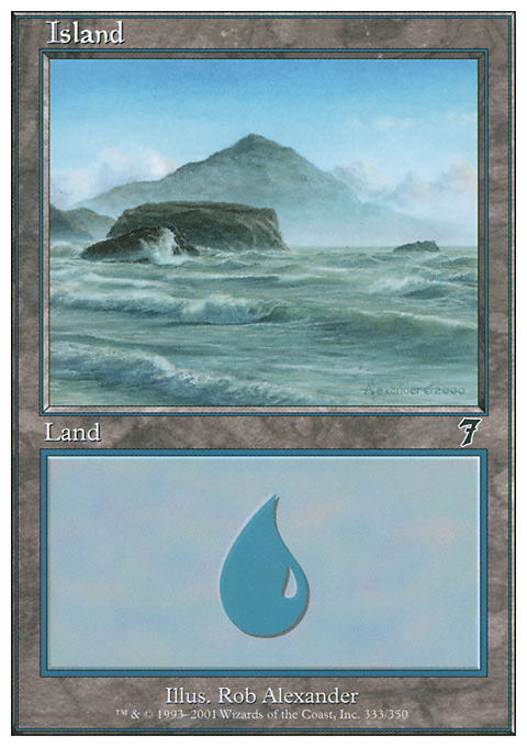 Island (333)  card from Seventh Edition