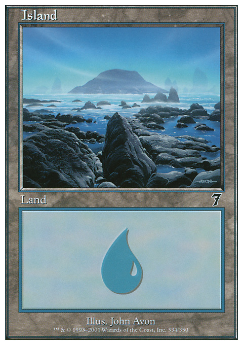 Island (334)  card from Seventh Edition