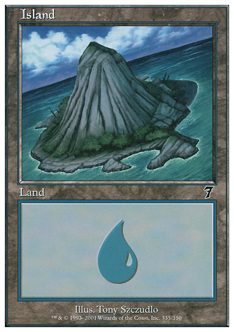 Island (335)  card from Seventh Edition