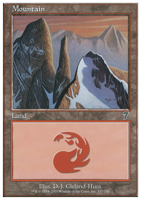 Mountain (337)  card from Seventh Edition