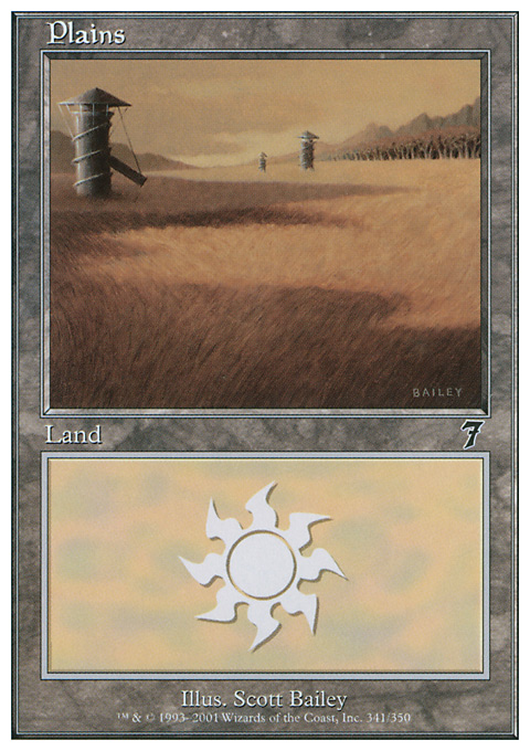 Plains (341)  card from Seventh Edition