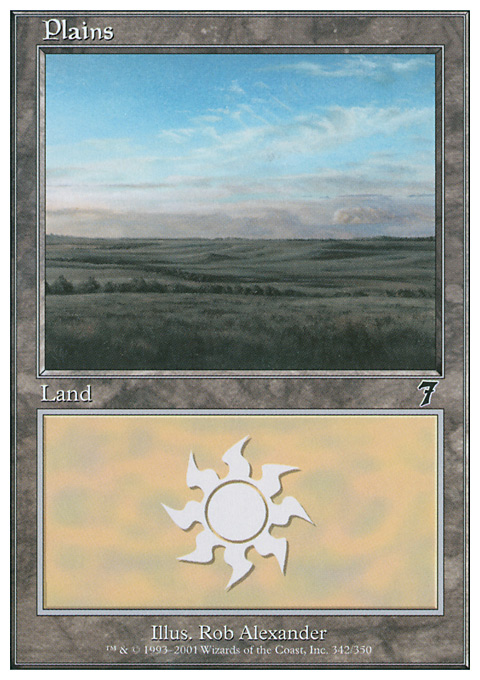 Plains (342)  card from Seventh Edition