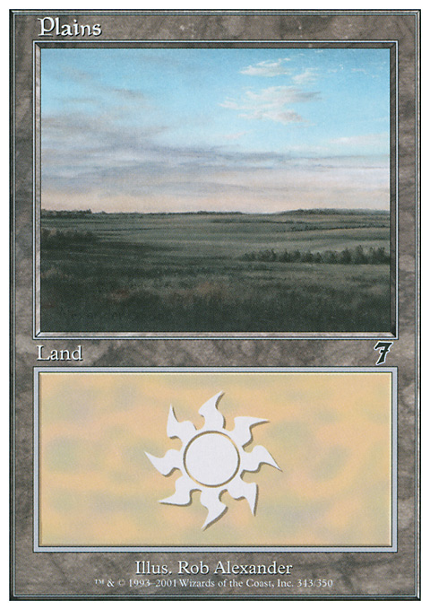 Plains (343)  card from Seventh Edition