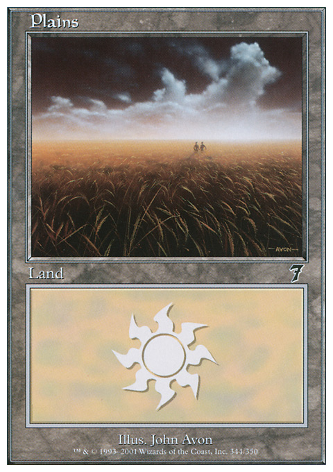 Plains (344)  card from Seventh Edition