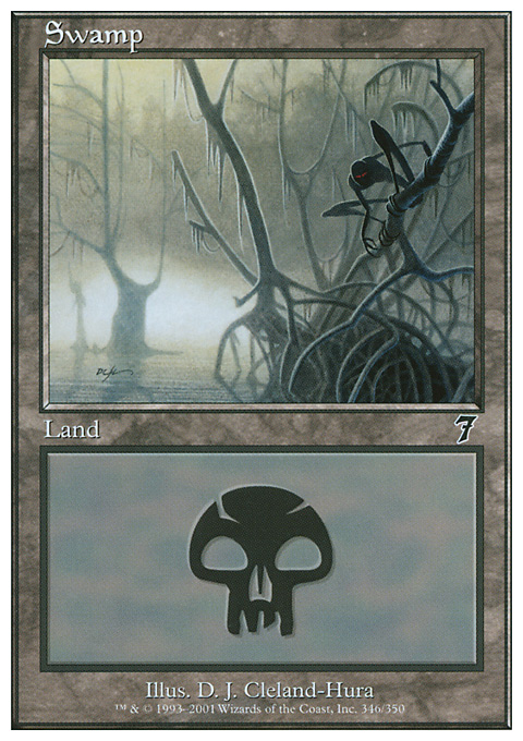 Swamp (346)  card from Seventh Edition