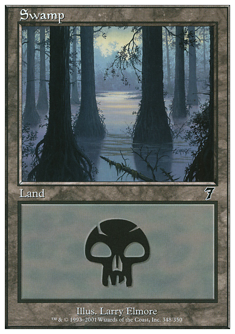 Swamp (348)  card from Seventh Edition