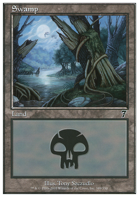 Swamp (349)  card from Seventh Edition
