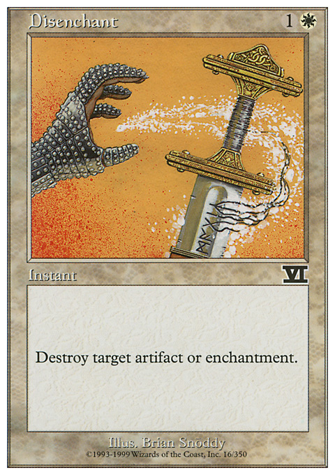 Disenchant card from Classic Sixth Edition