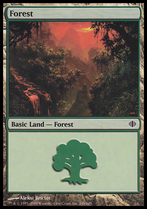Forest (246) card from Shards of Alara
