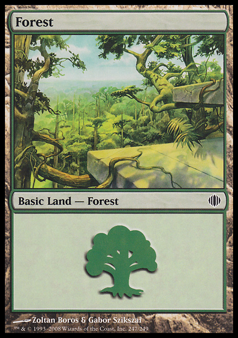 Forest (247) card from Shards of Alara