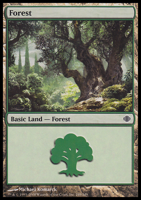 Forest (249) card from Shards of Alara