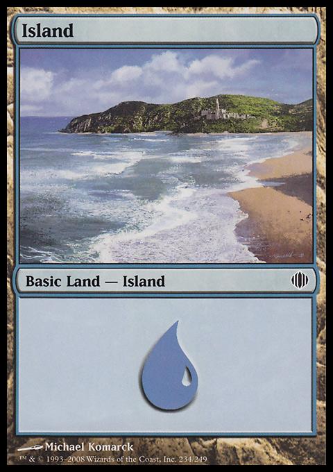Island (234)  card from Shards of Alara