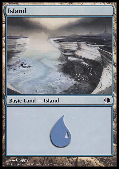 Island (235)  card from Shards of Alara