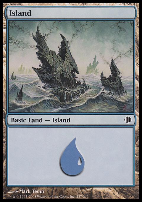 Island (237)  card from Shards of Alara