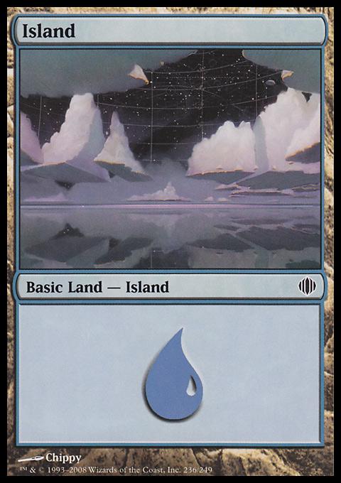 Island (236)  card from Shards of Alara