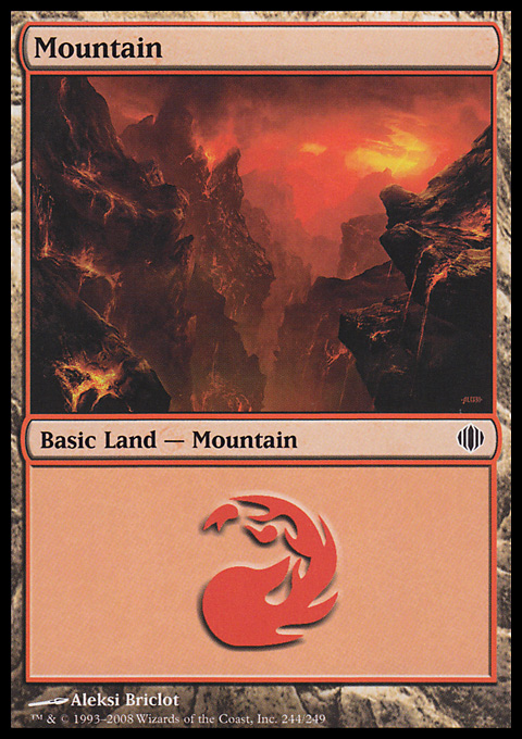 Mountain (244)  card from Shards of Alara