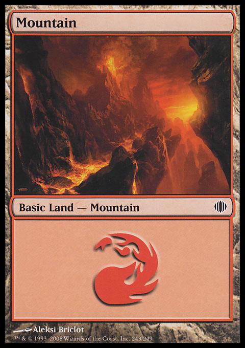 Mountain (243)  card from Shards of Alara