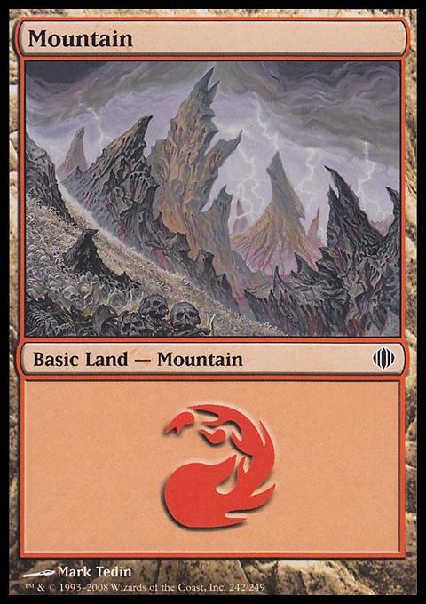 Mountain (242)  card from Shards of Alara
