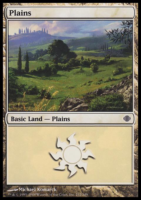 Plains (232)  card from Shards of Alara