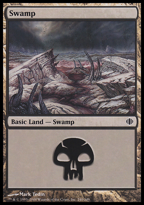 Swamp (240)  card from Shards of Alara