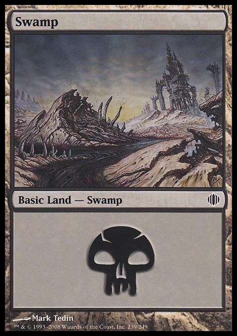 Swamp (239)  card from Shards of Alara
